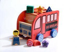 Bus Geometri Mainan Edukatif