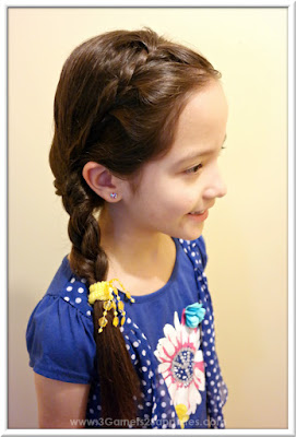 Easy #StraightAStyle hairstyle for back-to-school - Half French side braid