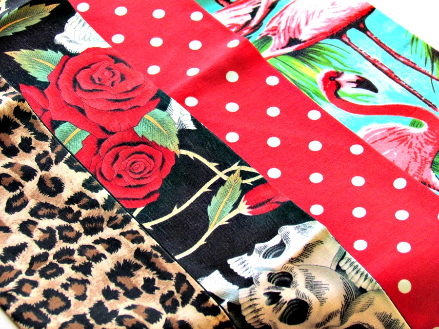 Pin up hair ties, Rockabilly head scarves, Christmas Gift Ideas, By Sam Mercer, St Georges Market