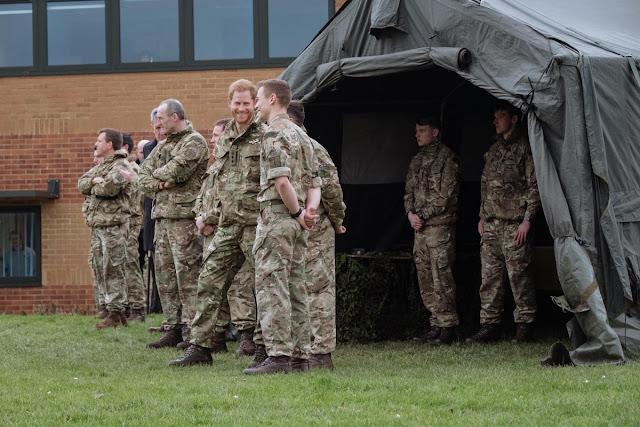 Wizyta księcia Harry'ego w jednej z baz Royal Marines