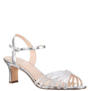2c144227db5 JCPenney I Miller Silver Metallic Prom Sandals Low Heel