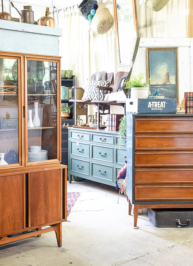 Cool toned vintage and MCM furniture