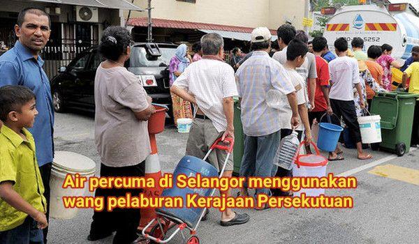 [Video] Air percuma di Selangor menggunakan wang pelaburan Kerajaan Persekutuan