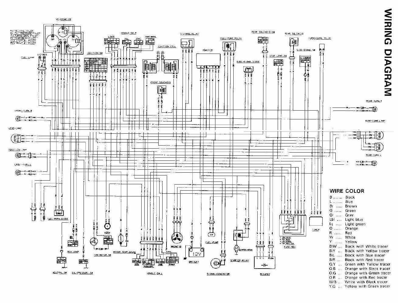 Suzuki GSX250F Across motorcycle 1991 Electrical Wiring