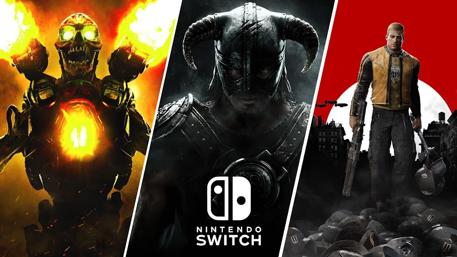 doom skyrim wolfenstein ii nintendo switch