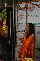 Marath Actrss Urmila Kanitkar Celetes Gudi Padwa in Orange Saree 17.JPG
