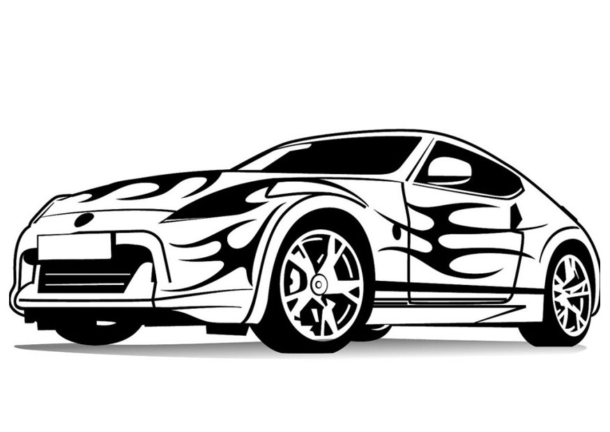 Download Sports Car Coloring Pages For Kids