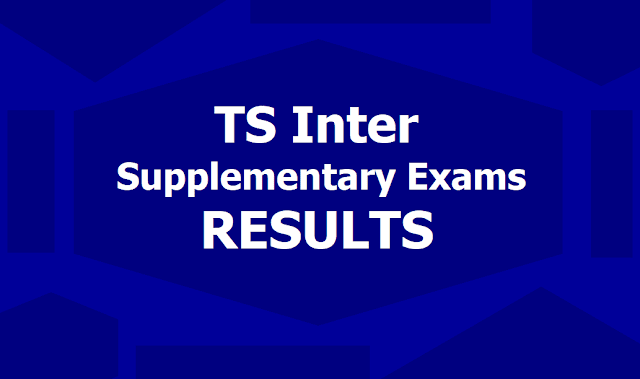 TS Inter Supplementary Exams Results
