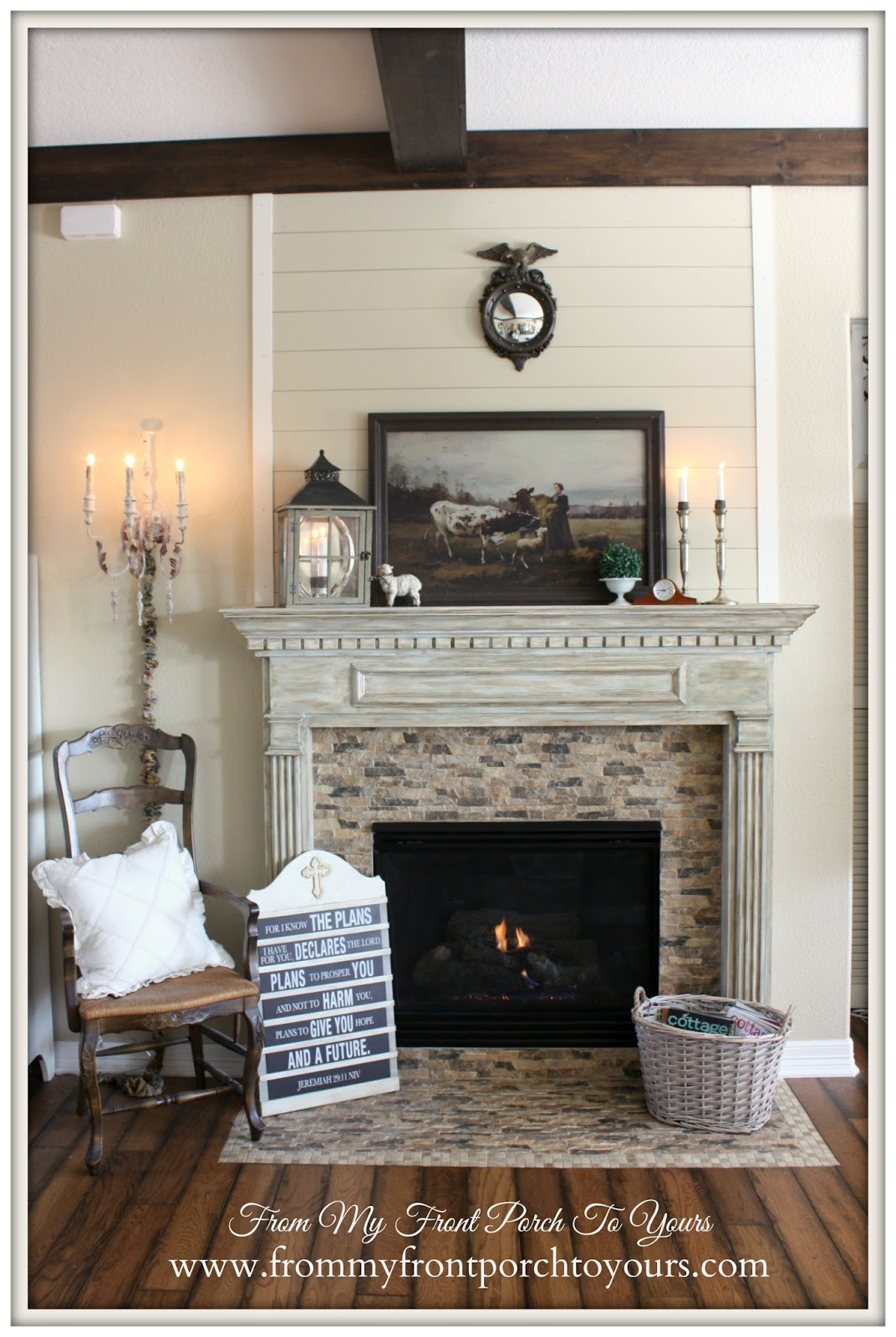 From My Front Porch To Yours: French Country Mantel