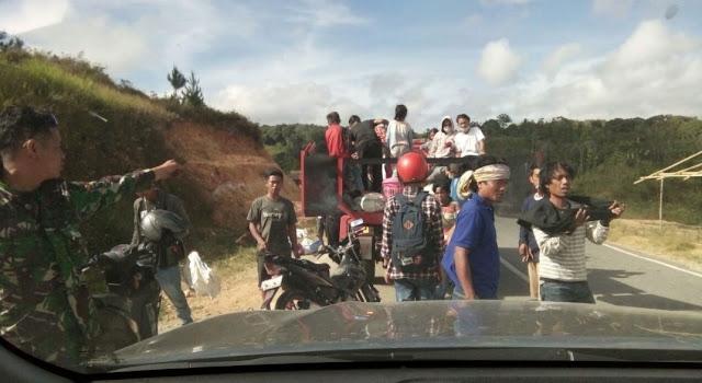 FOTO : Kloter III, Kodim 1414 Tana Toraja Kawal Pengungsi Palu Menuju Toraja