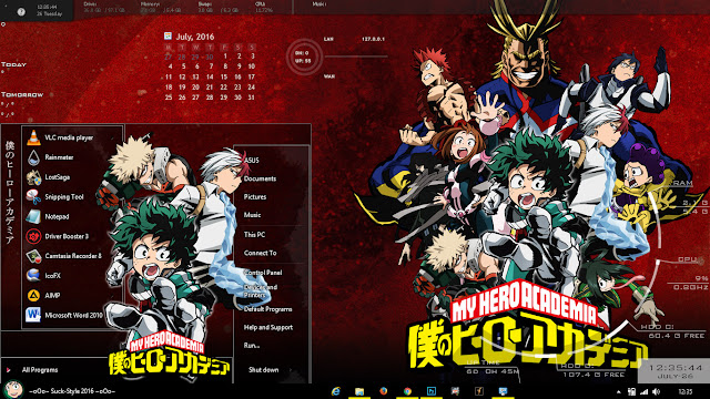 Theme Anime Windows 8.1 Boku no Hero Academia By Bashkara