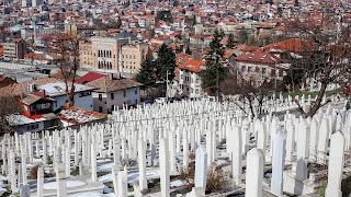 Many cemetries in Sarajevo