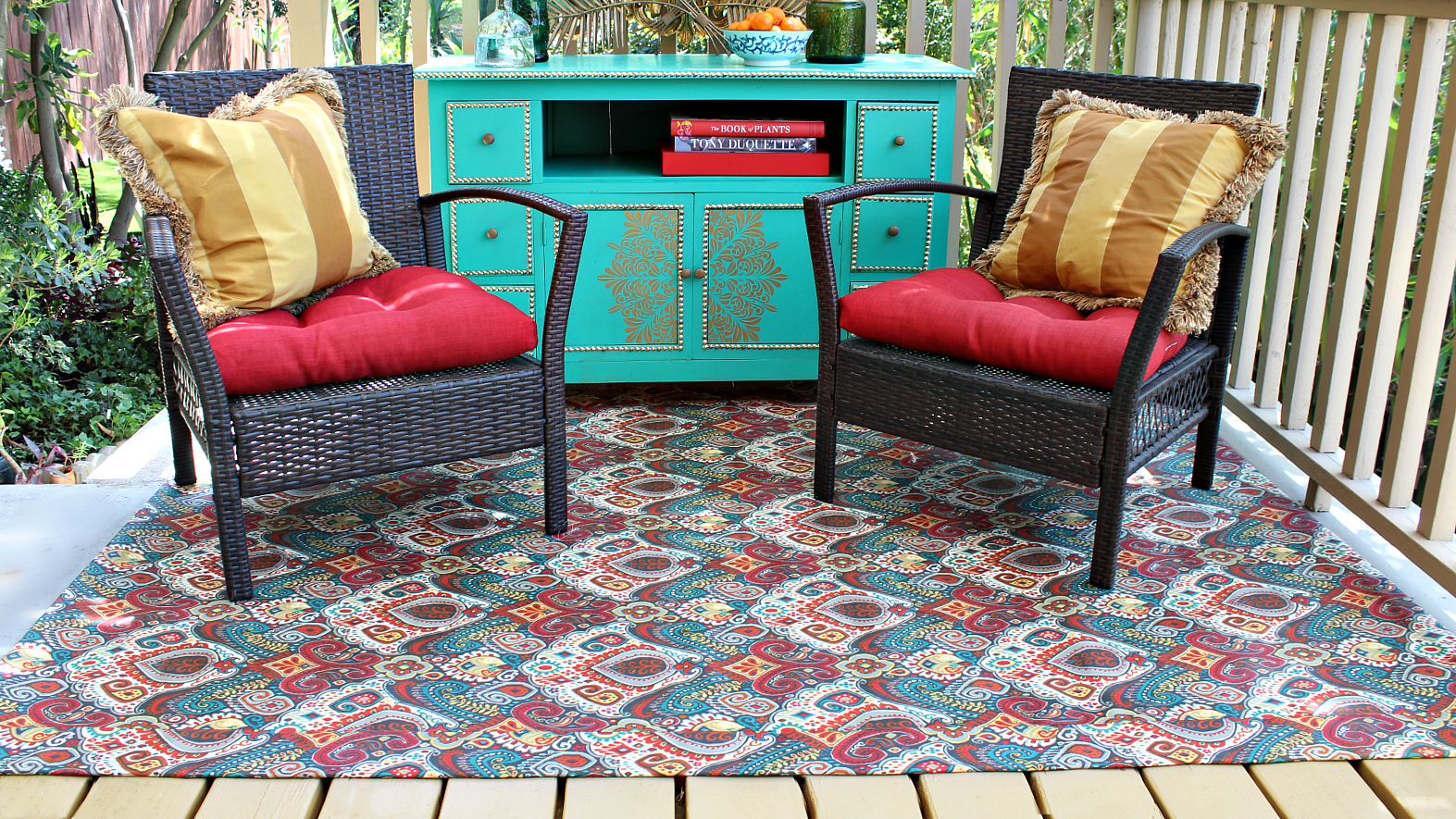 network how pop and outdoor or painter paint diy patio pin add rug bright deck s cloth your stencils color to from turn by of drop a canvas an into making