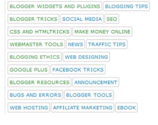 label widget for blogger