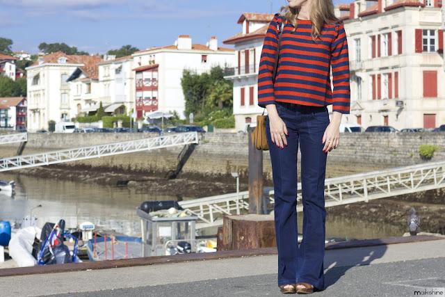 """Navy & """"rouge"""" trés chic outfit"""