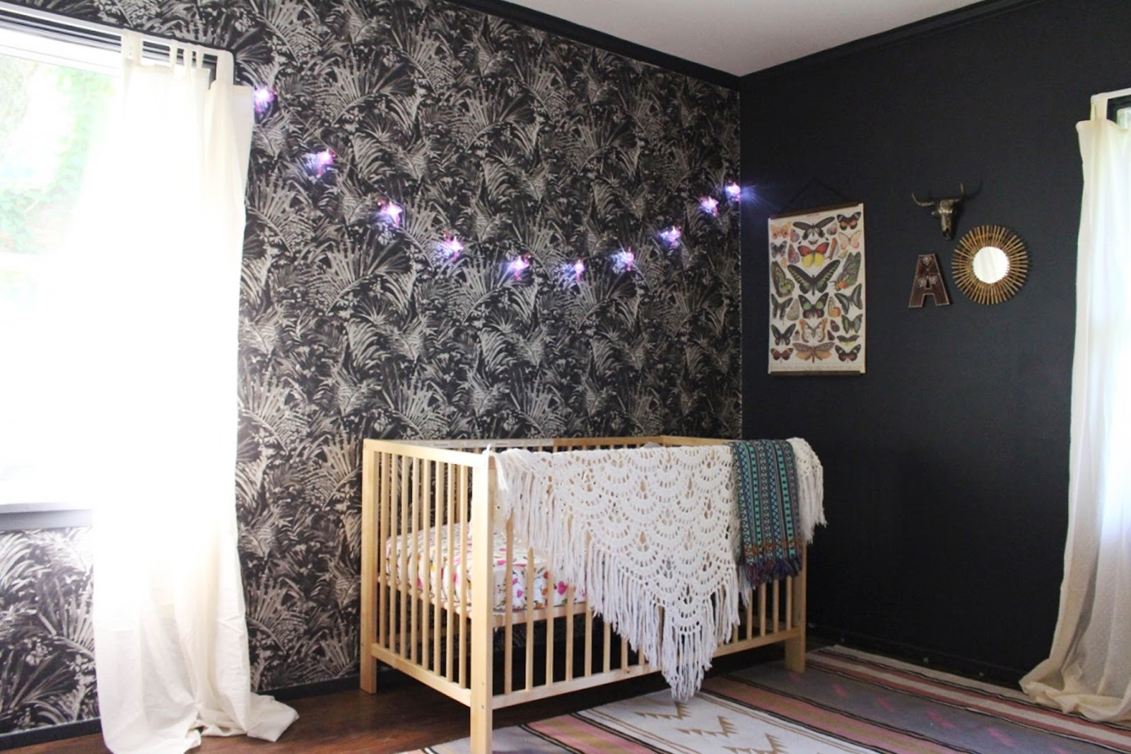 Bohemian Style Baby Nursery: Before And After // Boho Baby Nursery Makeover