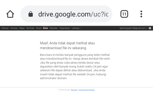 Tips Cara Mengatasi Limit Download Google Drive