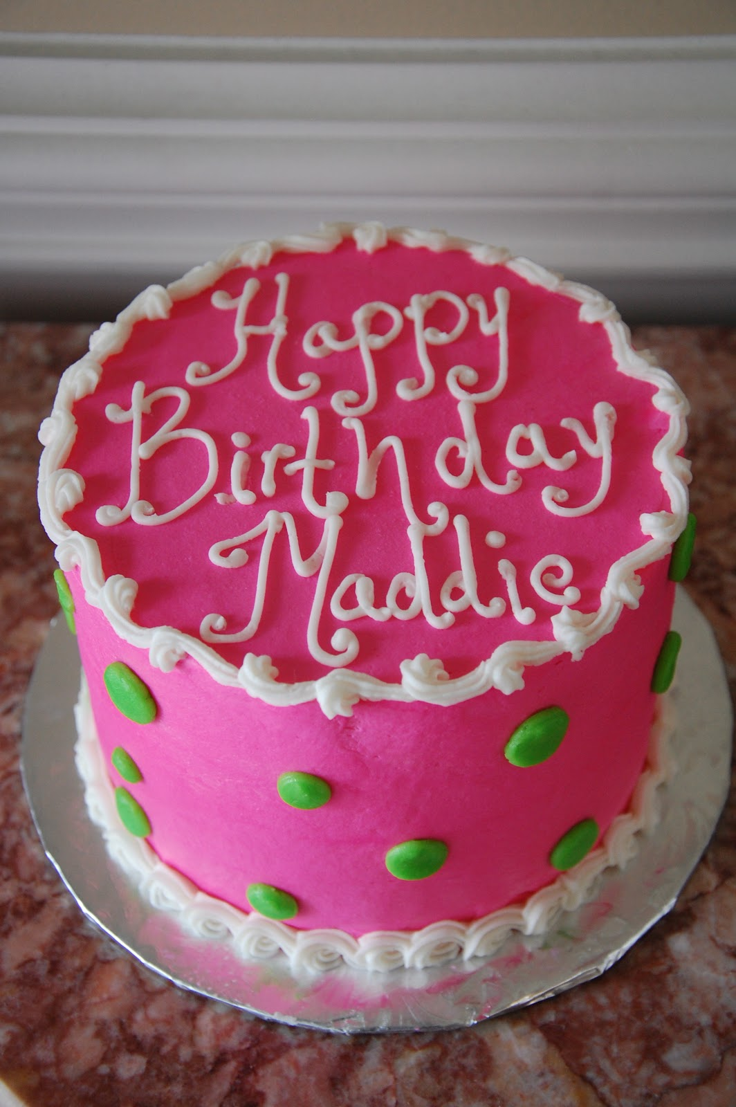 Angela Barton S Cakes Happy Birthday Maddie