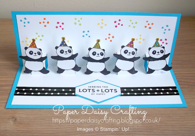 Party Pandas pop up card - Stampin' Up!