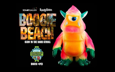 Designer Con 2018 Exclusive Stroll Boogie Beach Edition Glow in the Dark Vinyl Figure by Spanky Stokes x Toy Art Gallery