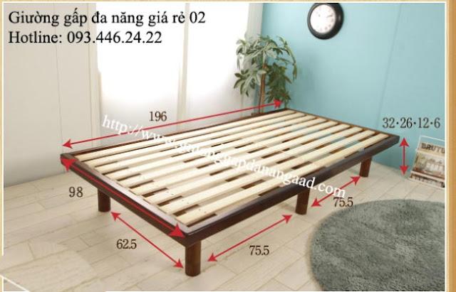 Giường đa năng có thể thay đổi kích thước chân giường
