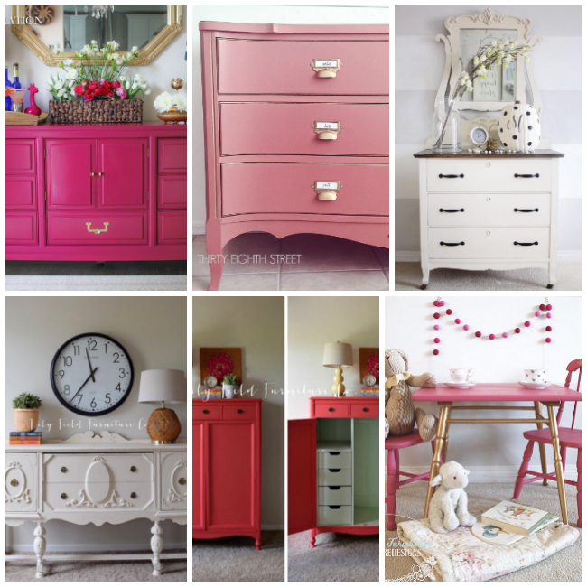 furniture painting, annie sloan chalk paint, how to use chalk paint, pink dressers, white dressers, coral dressers,