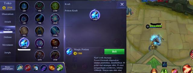 Tips Bermain Mobile Legends Pemula - Beli Potion Biar Semakin GG!