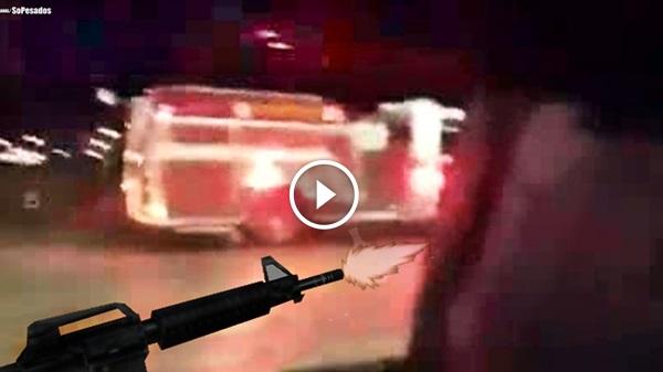Policia atira CAMINHÃO ROUBADO