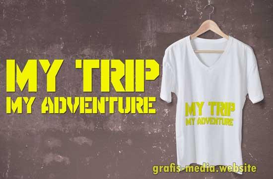 font my trip my adventure adalah dispirador stencil