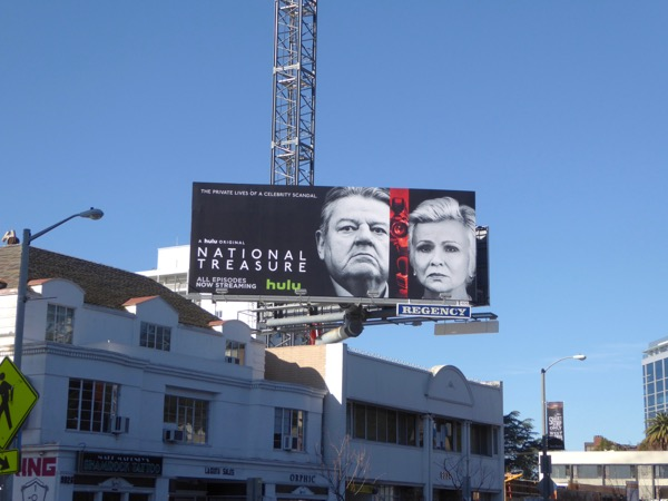 National Treasure series launch billboard