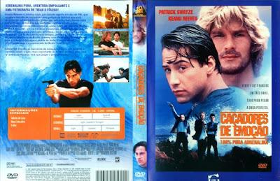 Filme Caçadores de Emoção (Point Break) DVD Capa