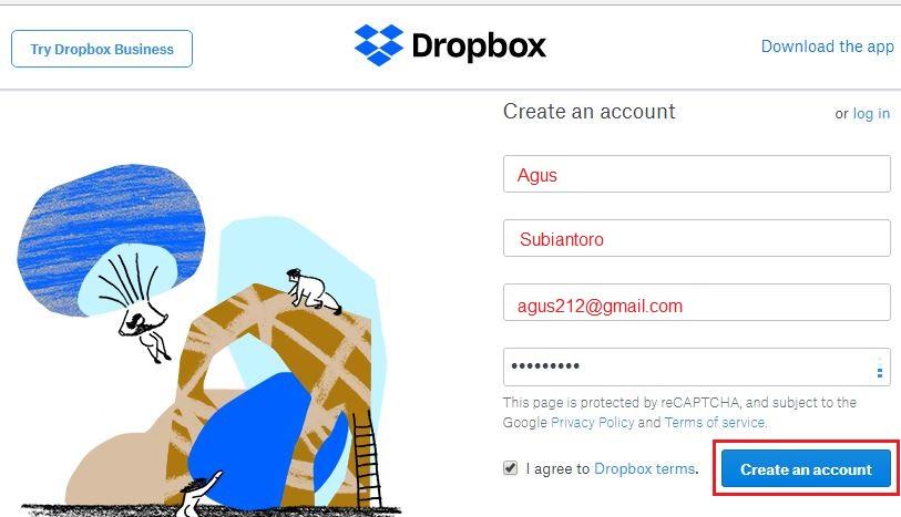 Cara Daftar Dropbox Solo Online