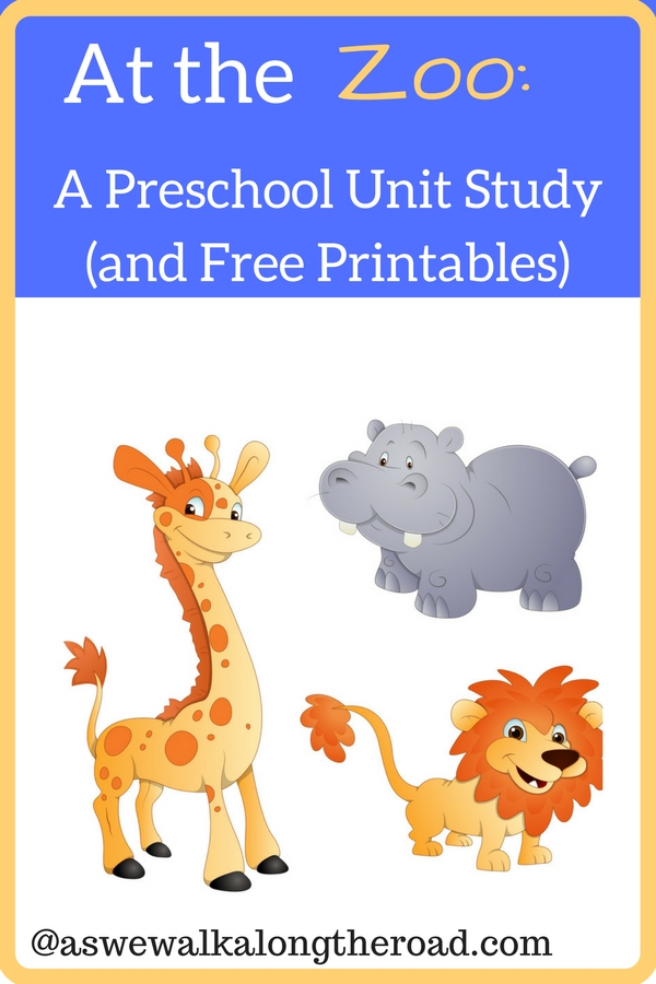 Zoo animals study for preschool