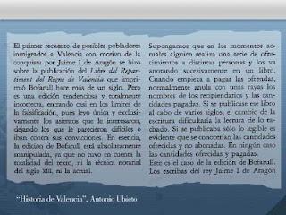 Antonio Ubieto, historia de Valencia