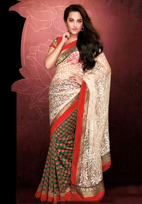 Sonakshi Sinha Photo shoot In White Saree