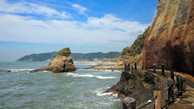 館山を起点に内房の海岸沿いを木更津まで走るサイクリングコース