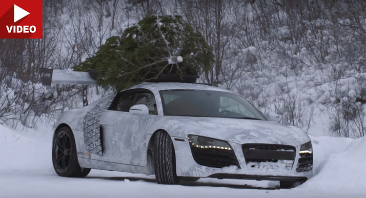 Anderson Automotive Group >> Audi R8 Goes Drifting In The Snow With A Christmas Tree