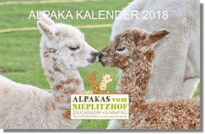 Alpaka Kalender 2018