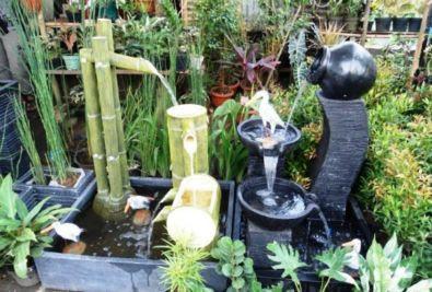 taman gemericik air mancur rumah minimalis