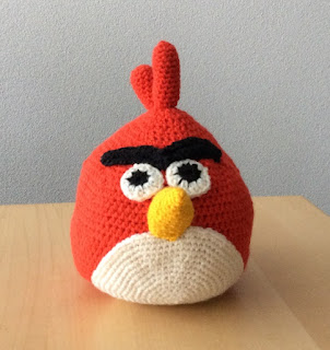 Angry Bird Red gehaakt