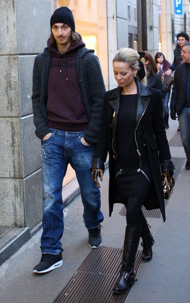 Football Stars Zlatan Ibrahimovic Wife Helena Seger Images 2011