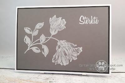 Sympathy card: Penny Black Noble stamp, Hero Arts Unicorn ink, SU smoky slate cardstock