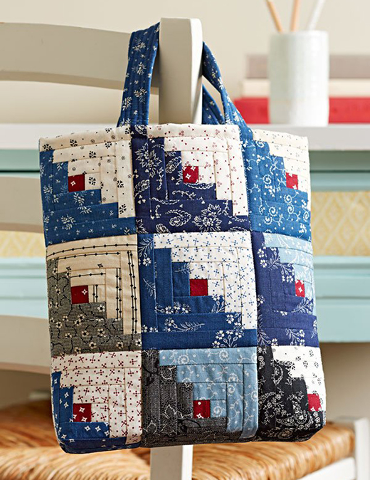 Mini Log Cabin Bag Free Pattern