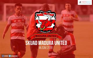 Daftar pemain Madura United 2018