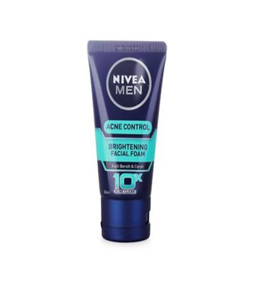 Nivea Men Acne Control Brightening Facial Foam 100 G