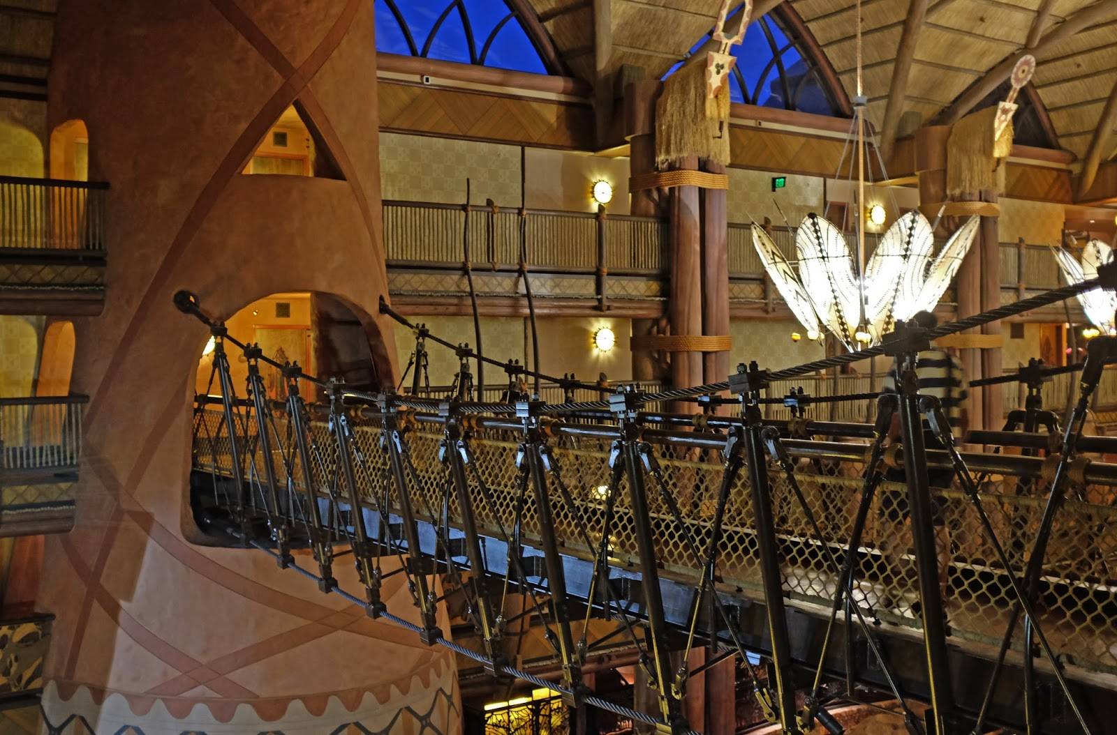 Animal Kingdom Lodge lobby at night