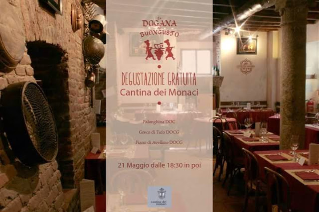 Degustazione Gratuita Cantina dei Monaci 21 Maggio Milano