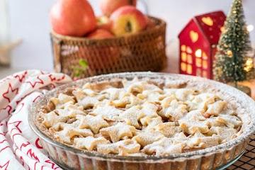 Tarte aux pommes aux épices de noël