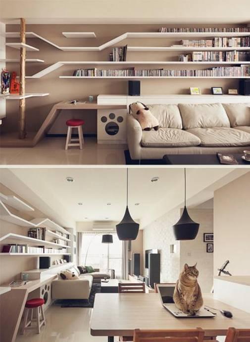 5 Idea Ubah Suai Rumah Untuk Pencinta Kucing