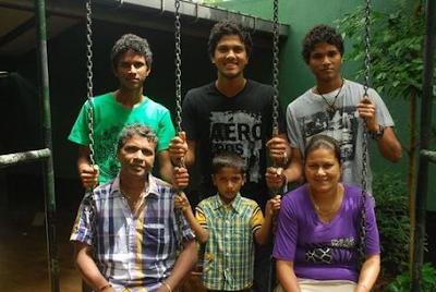 Dinesh Chandimal Family